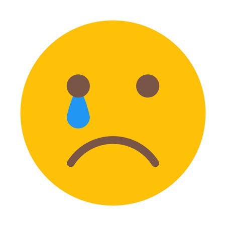 Cry Face Emoji Illustration