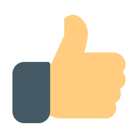Thumbs up or Like Illustration