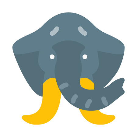 Forest Herbivorous Elephant Иллюстрация