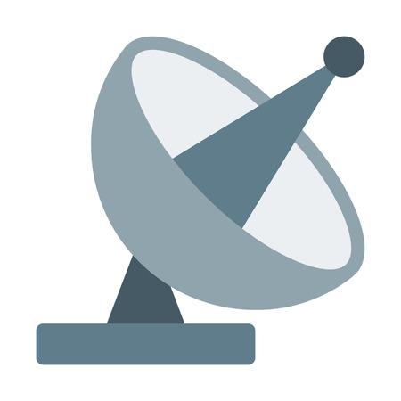 Parabolic Antenna Transmission Vectores