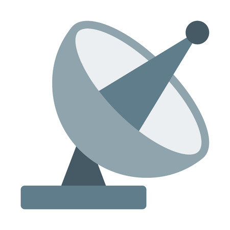 Parabolic Antenna Transmission Illustration