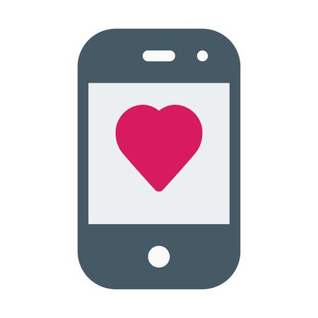 Love Message on Smartphone