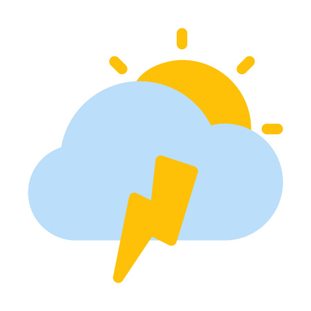 Cloudy Thunderstrom day Illusztráció