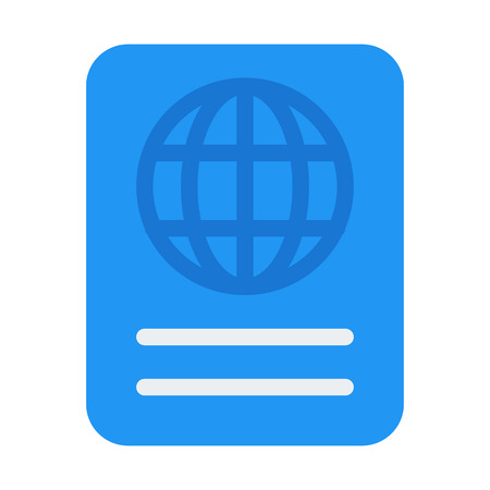 Internation Travel Passport Illustration