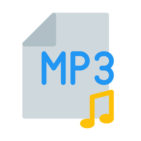 Music file format Stock Illustratie