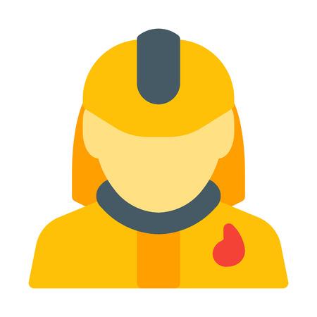 Fire Fighter in Dress Иллюстрация