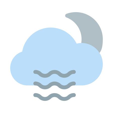 Night-time foggy weather 向量圖像