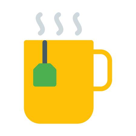 Mug with tea bag Foto de archivo - 126406778