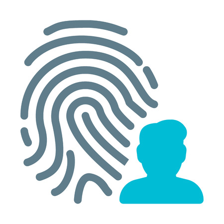 User Fingerprint Scan 일러스트