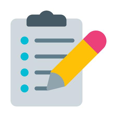 Lista de verificación del lápiz del portapapeles