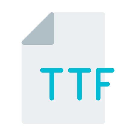 Font File Format Illustration