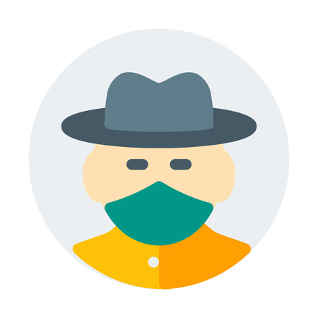 cowboy with hat Illustration