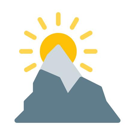 High Altitude Mountain Illustration