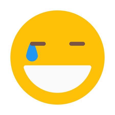 Lachen Sie hart Smiley