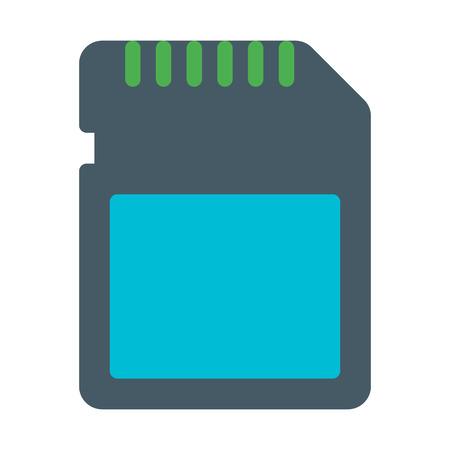 Digital Memory Card Illustration