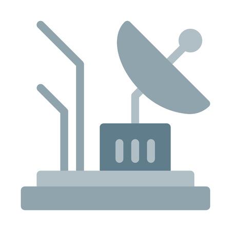Parabolic Antenna dish  イラスト・ベクター素材