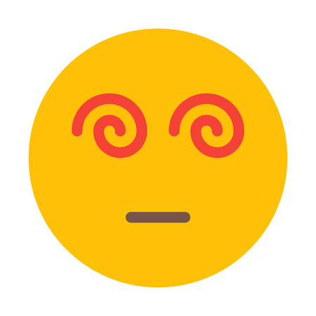 Hypnotized Face Smiley Illustration
