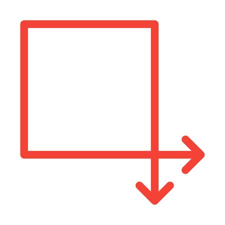 Square Arrow Shape Ilustração