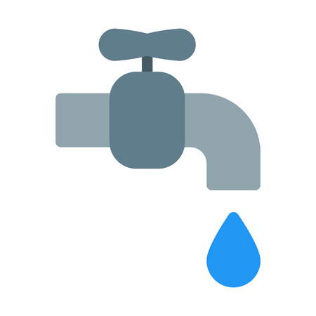 Water Wastage Symbol Illustration
