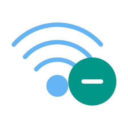 Remove Wifi Network Ilustração