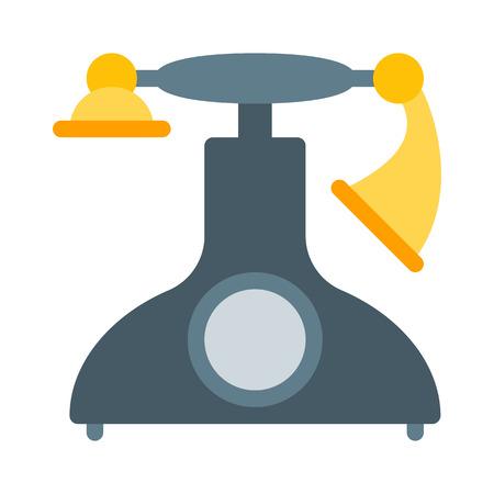 Retro Telephone Model Illustration
