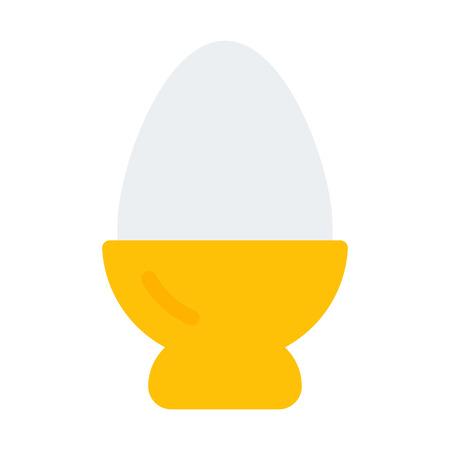 Boiled Egg in Bowl Illustration