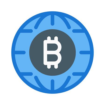 Bitcoin Service Logo Ilustração