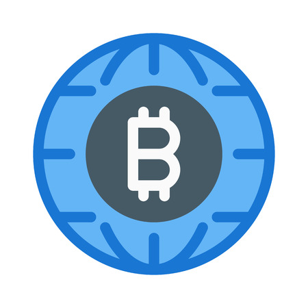 Bitcoin Service Logo Illustration