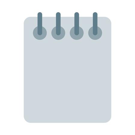 Spiral Notepad Sheets Illustration