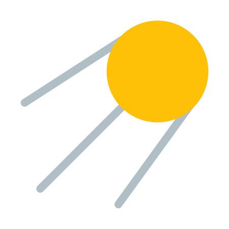 Sputnik Artificial Satellite Illustration
