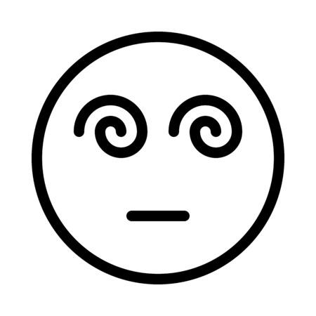 Smiley de visage hypnotisé