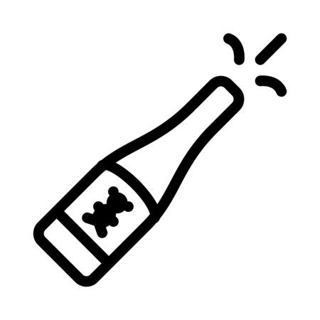 Kids Champagne Illustration