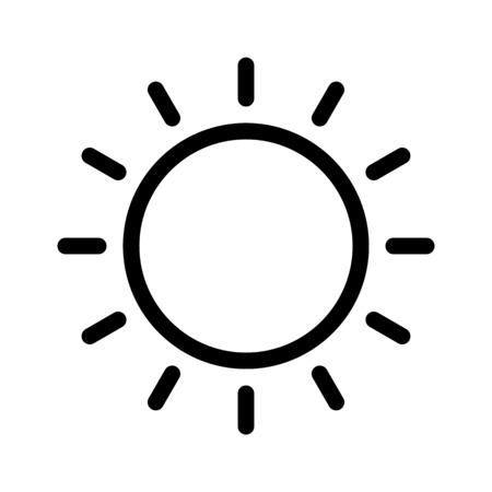 Bright sun in sky