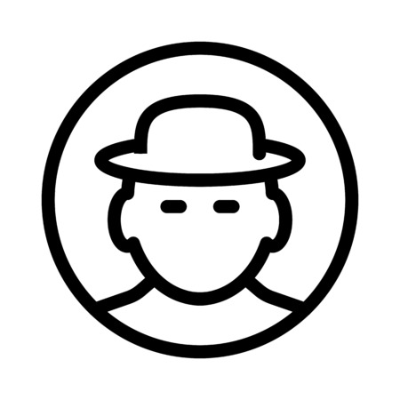 man with hat Illustration