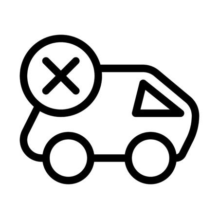 Cancel Cargo Delivery Иллюстрация