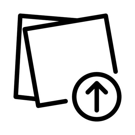 Upload Sticky Notes Иллюстрация