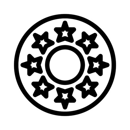 Star Jeans Button