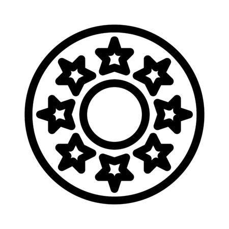 Star Jeans Button Illusztráció
