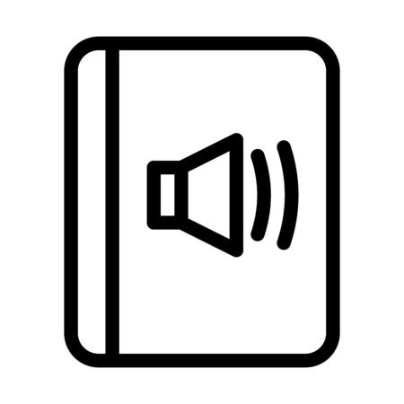 Audio Book Isolated