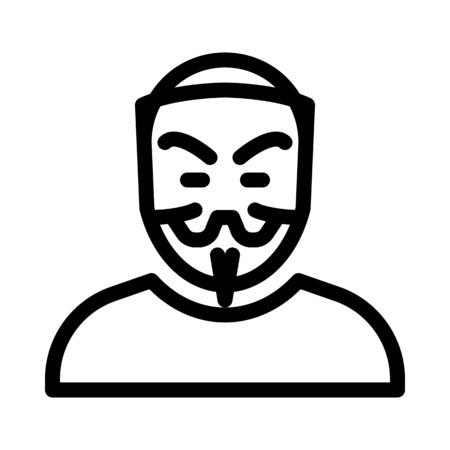 Anonymer Charakter oder Hacker Vektorgrafik