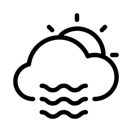 Daytime foggy weather 向量圖像