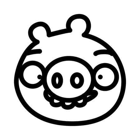 Bad Pig Character Vetores