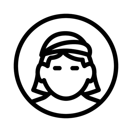 woman with head covered Illustration