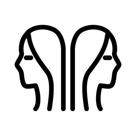 Gemini Astrological Symbol Illustration