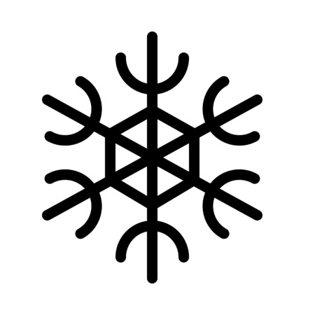Six Branch Snowflake Illustration
