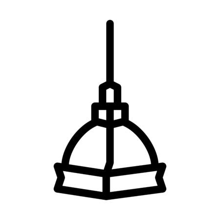 Turin Tower Building Vector Illustration
