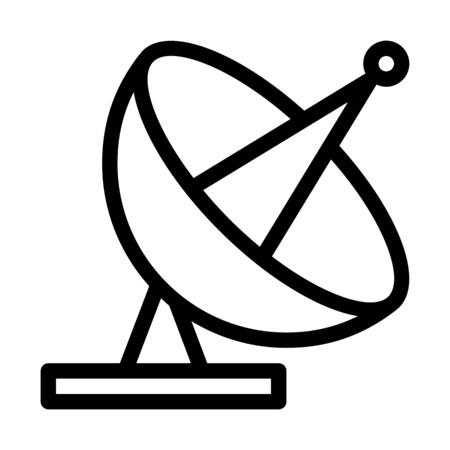 Parabolic Antenna Transmission  イラスト・ベクター素材