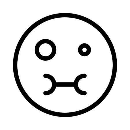 Feeling Sick Emoticon Illustration