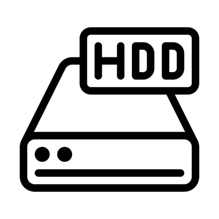 Hard Drive Isolated