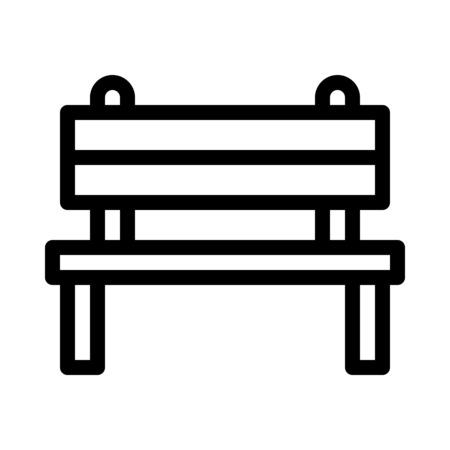 Park Bench Area Illustration